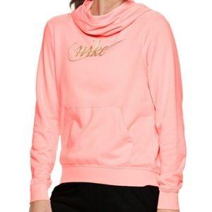 🆕️ Nike Coral Pink Funnel-Neck Hoodie